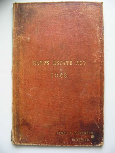 Photo of HAMP'S ESTATE ACT 1868 published by James & Bodenham (STOCK CODE: 816779)  for sale by Stella & Rose's Books