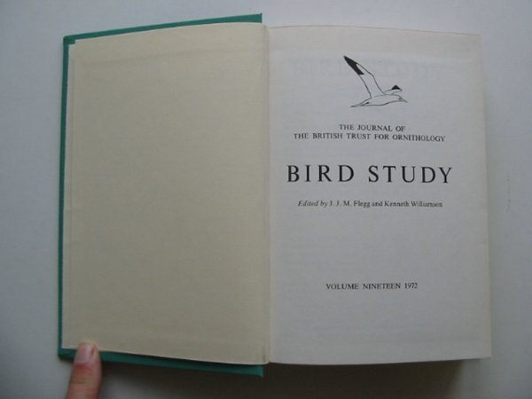Photo of BIRD STUDY VOLS. 19-20 written by Flegg, J.J.M.<br />Williamson, Kenneth published by British Trust for Ornithology (STOCK CODE: 818242)  for sale by Stella & Rose's Books