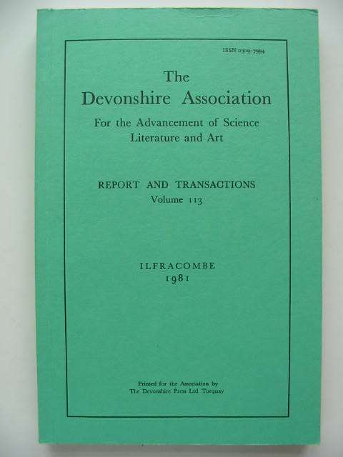 Photo of THE DEVONSHIRE ASSOCIATION FOR THE ADVANCEMENT OF SCIENCE LITERATURE AND ART published by The Devonshire Press (STOCK CODE: 821409)  for sale by Stella & Rose's Books