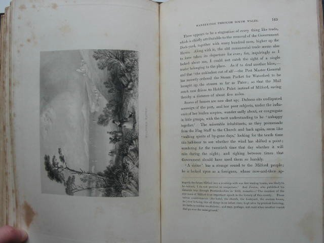 Photo of WANDERINGS AND EXCURSIONS IN SOUTH WALES INCLUDING THE COURSE OF THE WYE written by Roscoe, Thomas illustrated by Cox, D.<br />et al.,  published by C. Tilt and Simpkin and Co. (STOCK CODE: 822168)  for sale by Stella & Rose's Books