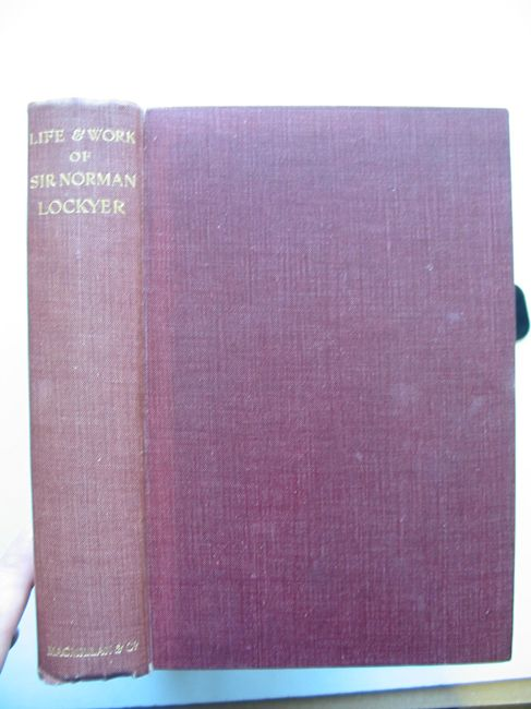 Photo of LIFE AND WORK OF SIR NORMAN LOCKYER written by Lockyer, T. Mary<br />Lockyer, Winifred L. published by Macmillan & Co. Ltd. (STOCK CODE: 823575)  for sale by Stella & Rose's Books