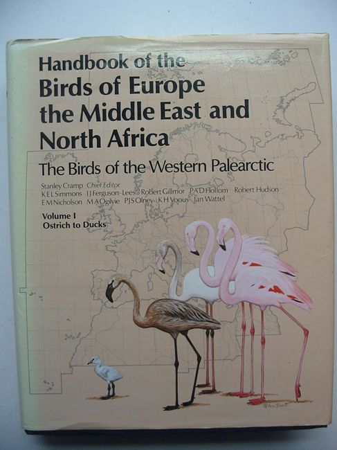 Photo of HANDBOOK OF THE BIRDS OF EUROPE THE MIDDLE EAST AND NORTH AFRICA VOLUME I OSTRICH TO DUCKS written by Cramp, Stanley<br />et al,  illustrated by Coombs, C.J.F.<br />Cusa, Noel W.<br />Gillmor, Robert<br />Hayman, Peter<br />Scott, Peter published by Oxford University Press (STOCK CODE: 823648)  for sale by Stella & Rose's Books