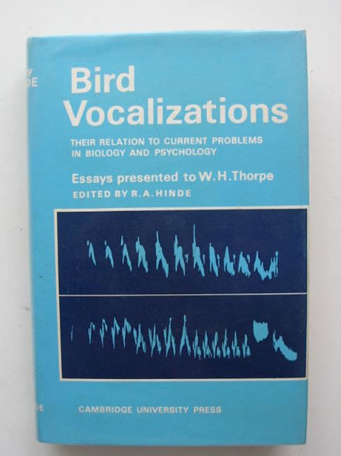 Photo of BIRD VOCALIZATIONS written by Hinde, R.A. published by Cambridge University Press (STOCK CODE: 823780)  for sale by Stella & Rose's Books