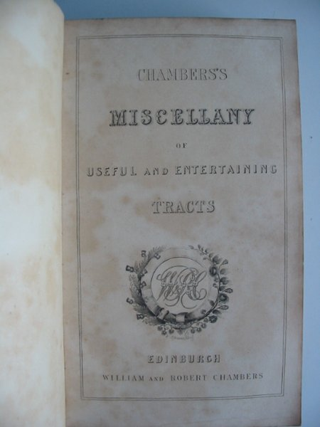 Photo of CHAMBERS'S MISCELLANY OF USEFUL AND ENTERTAINING TRACTS published by William and Robert Chambers (STOCK CODE: 985816)  for sale by Stella & Rose's Books