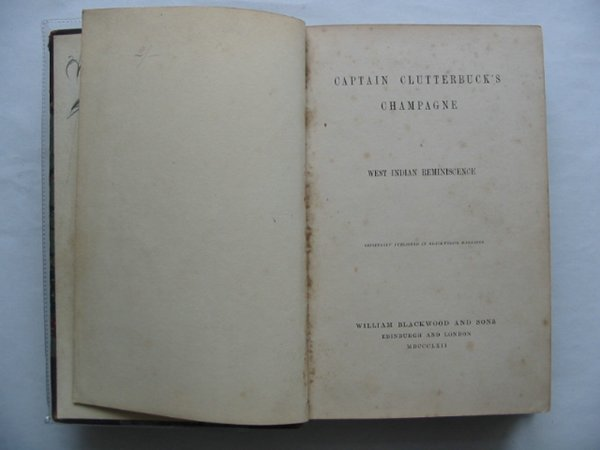 Photo of CAPTAIN CLUTTERBUCK'S CHAMPAGNE written by Hanley, William G. published by William Blackwood and Sons (STOCK CODE: 987203)  for sale by Stella & Rose's Books