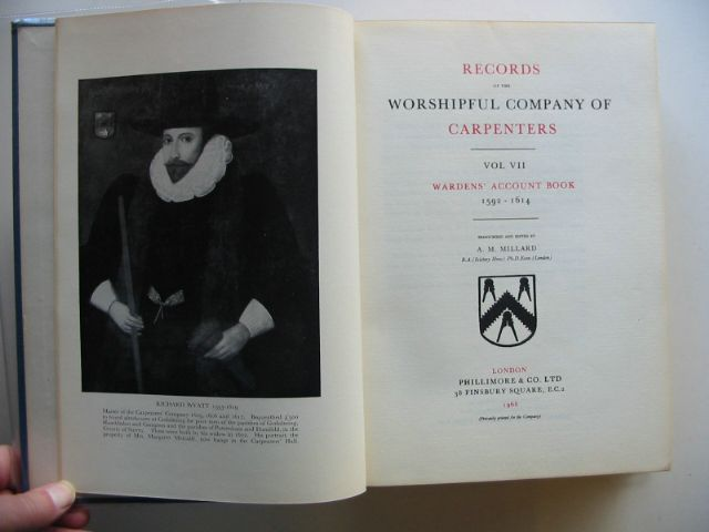 Photo of RECORDS OF THE WORSHIPFUL COMPANY OF CARPENTERS VOL VII written by Millard, A.M. published by Phillimore & Co. Ltd. (STOCK CODE: 987516)  for sale by Stella & Rose's Books