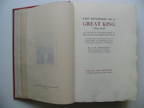 Photo of THE BOYHOOD OF A GREAT KING written by Broadley, A.M. published by Harper & Bros (STOCK CODE: 987528)  for sale by Stella & Rose's Books