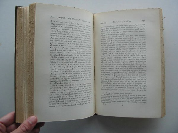 Photo of LOGIC OR THE MORPHOLOGY OF KNOWLEDGE (2 VOLUMES) written by Bosanquet, Bernard published by Oxford Clarendon Press (STOCK CODE: 988389)  for sale by Stella & Rose's Books