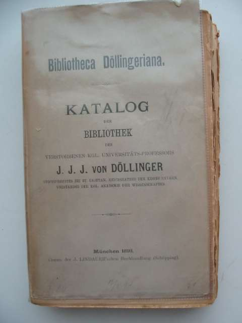 Photo of BIBLIOTHECA DOLLINGERIANA written by Von Dollinger, J.J.J. published by J. Lindauer (STOCK CODE: 990294)  for sale by Stella & Rose's Books