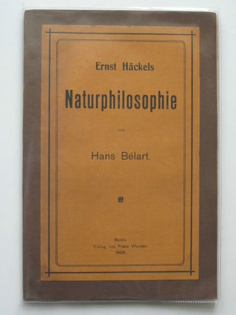 Photo of ERNST HACKELS NATURPHILOSOPHIE written by Belart, Hans published by Franz Wunder (STOCK CODE: 990456)  for sale by Stella & Rose's Books