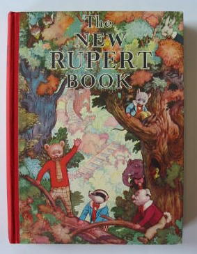 Cover of RUPERT ANNUAL 1938 - THE NEW RUPERT BOOK by Alfred Bestall