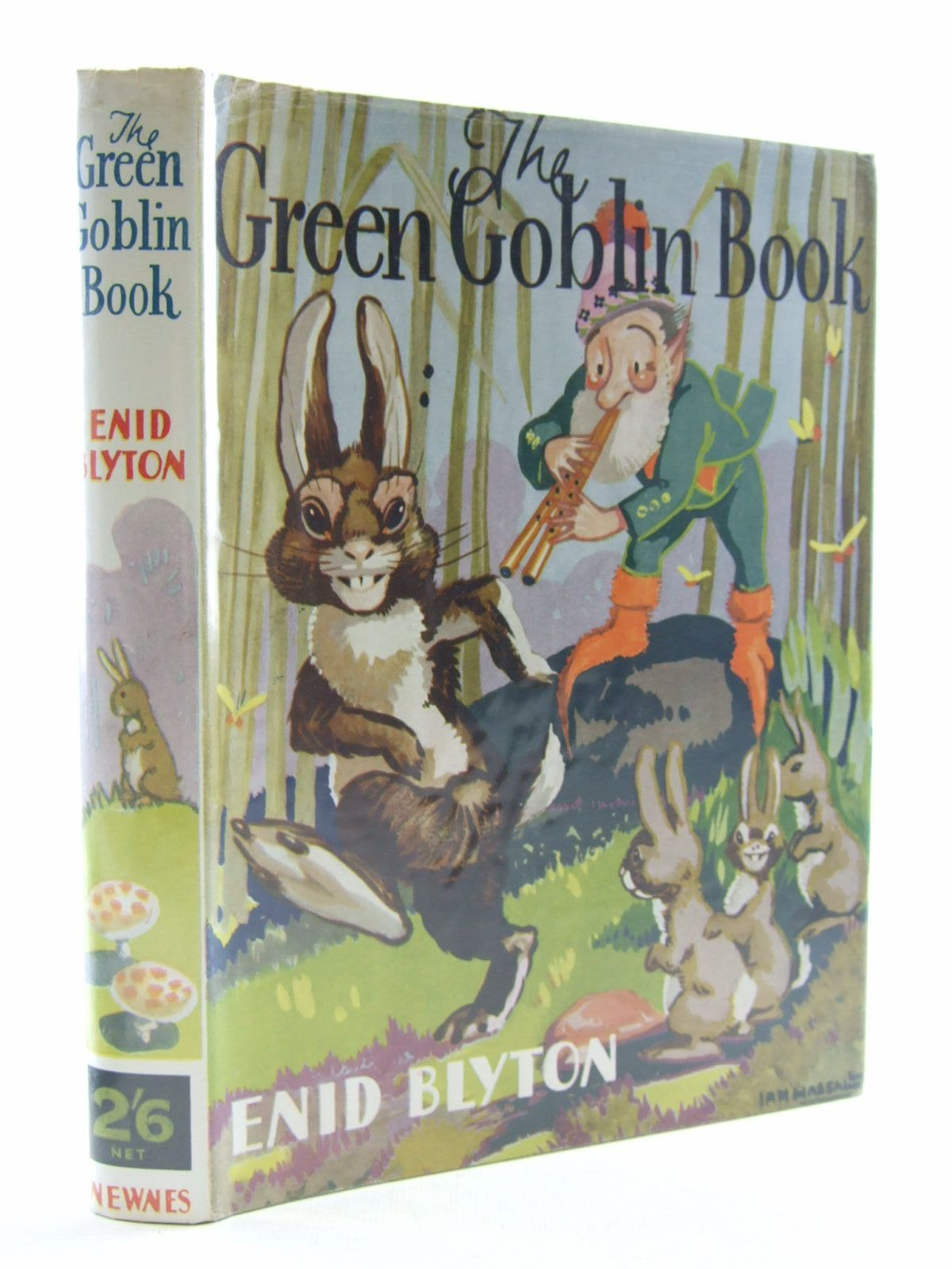 Cover of THE GREEN GOBLIN BOOK by Enid Blyton
