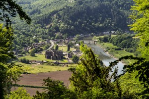Tintern Abbey from the Devils Pulpit