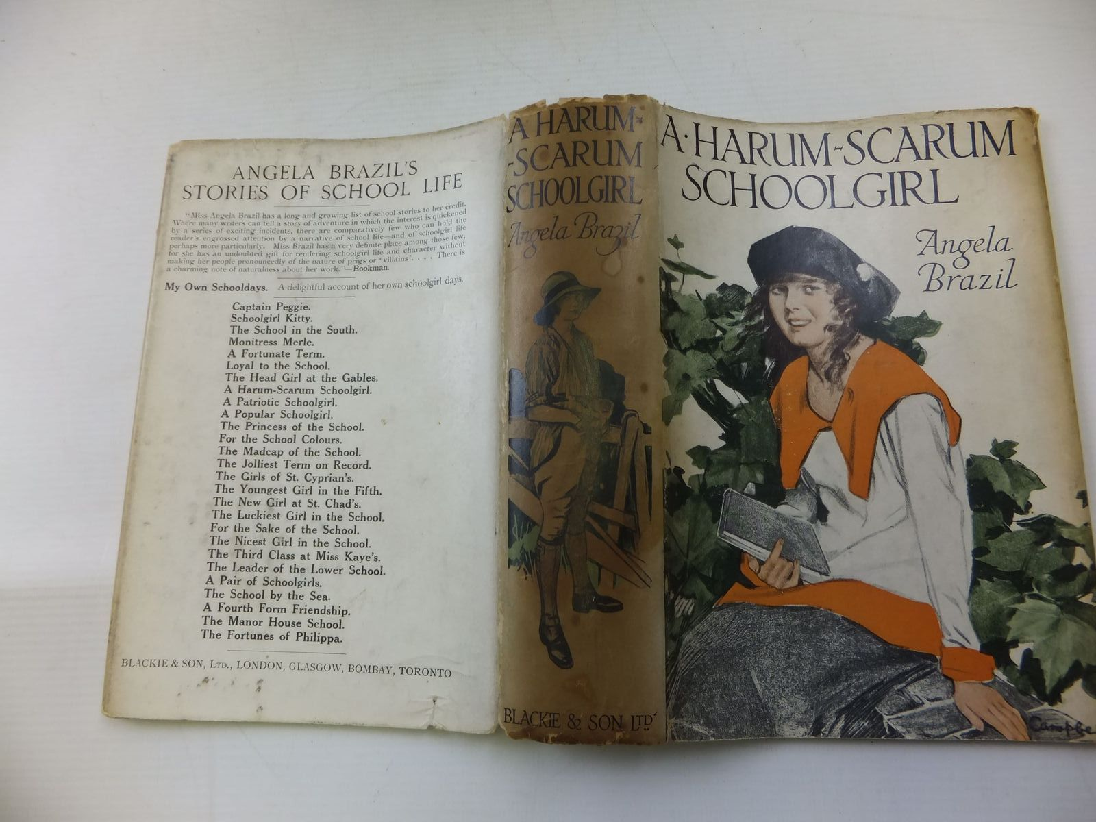 Photo of A HARUM-SCARUM SCHOOLGIRL written by Brazil, Angela illustrated by Campbell, John published by Blackie & Son Ltd. (STOCK CODE: 1108589)  for sale by Stella & Rose's Books