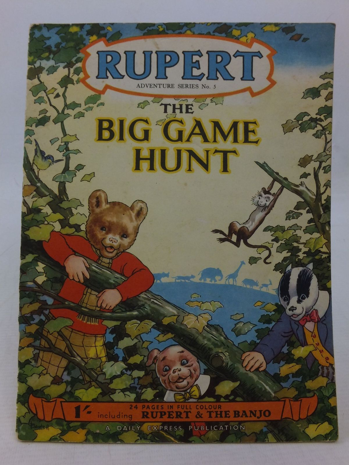 Photo of RUPERT ADVENTURE SERIES No. 5 - THE BIG GAME HUNT written by Bestall, Alfred illustrated by Bestall, Alfred published by Daily Express (STOCK CODE: 1109183)  for sale by Stella & Rose's Books