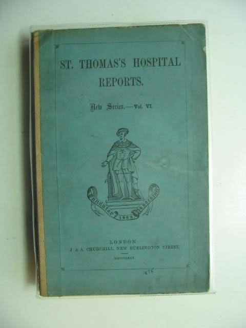 Photo of SAINT THOMAS'S HOSPITAL REPORTS VOL VI written by Bristowe, Dr.<br />Stone, Dr.<br />Croft, Mr. published by J. &amp; A. Churchill (STOCK CODE: 1201172)  for sale by Stella & Rose's Books
