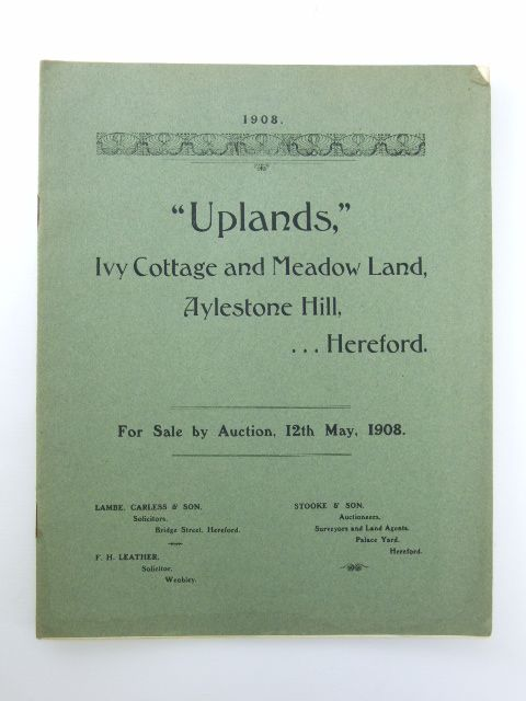 Photo of UPLANDS, IVY COTTAGE AND MEADOW LAND published by Messrs. Stooke And Son (STOCK CODE: 1205912)  for sale by Stella & Rose's Books