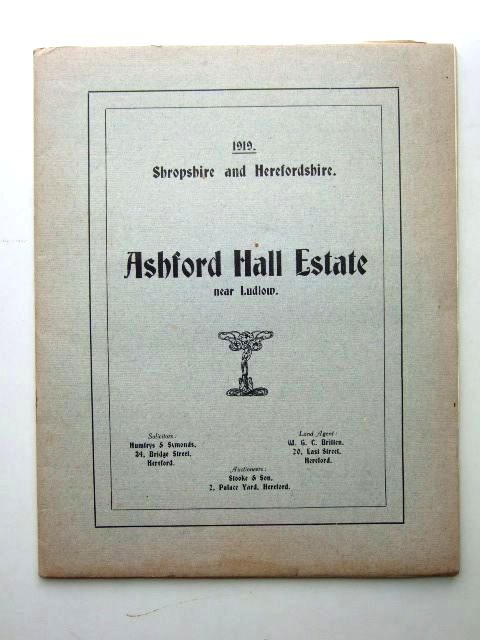 Photo of ASHFORD HALL ESTATE NEAR LUDLOW published by Messrs. Stooke And Son (STOCK CODE: 1206025)  for sale by Stella & Rose's Books