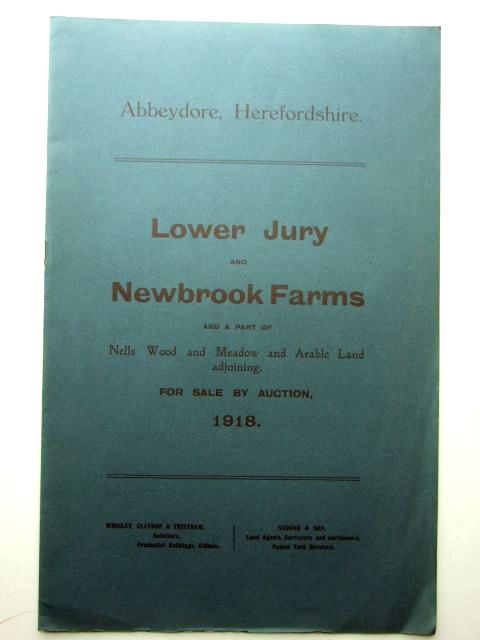 Photo of LOWER JURY AND NEWBROOK FARMS ABBEYDORE published by Messrs. Stooke And Son (STOCK CODE: 1206027)  for sale by Stella & Rose's Books