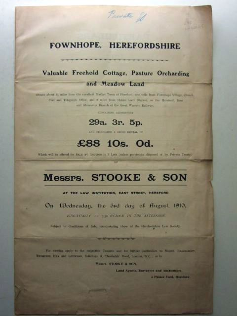 Photo of FOWNHOPE, HEREFORDSHIRE published by Messrs. Stooke And Son (STOCK CODE: 1206035)  for sale by Stella & Rose's Books