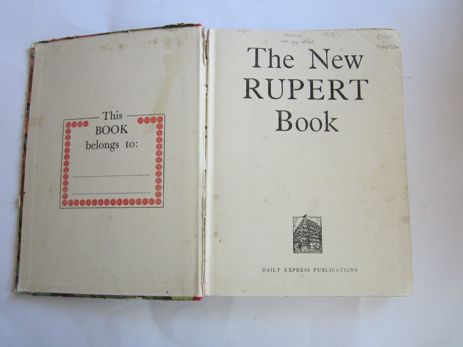 Photo of RUPERT ANNUAL 1938 - THE NEW RUPERT BOOK written by Bestall, Alfred illustrated by Bestall, Alfred published by Daily Express (STOCK CODE: 1206532)  for sale by Stella & Rose's Books