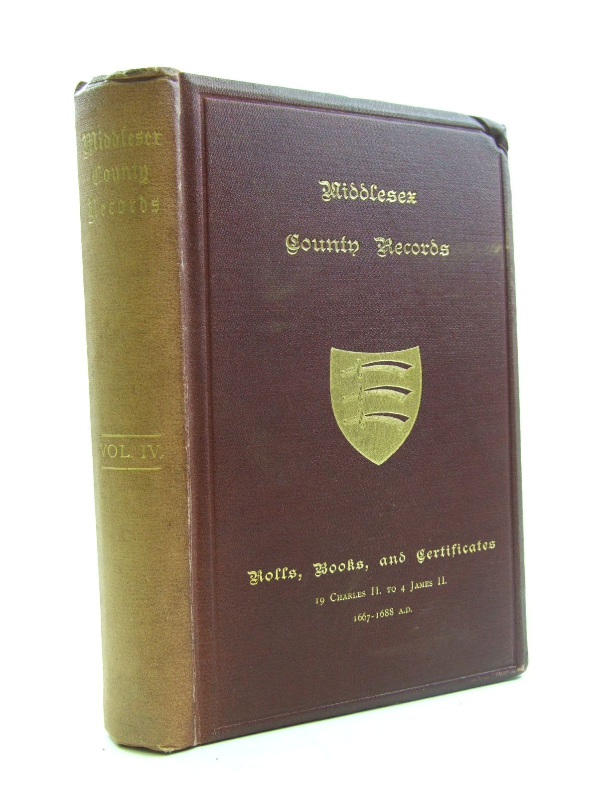 Photo of MIDDLESEX COUNTY RECORDS VOLUME IV written by Jeaffreson, J.C. published by The Middlesex County Record Society (STOCK CODE: 1207507)  for sale by Stella & Rose's Books
