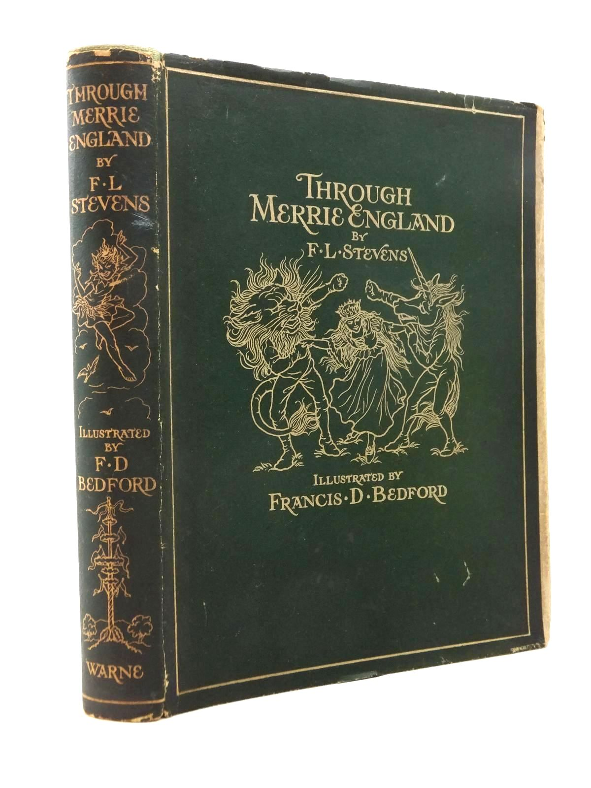 Photo of THROUGH MERRIE ENGLAND written by Stevens, F.L. illustrated by Bedford, Francis D. published by Frederick Warne & Co Ltd. (STOCK CODE: 1208892)  for sale by Stella & Rose's Books