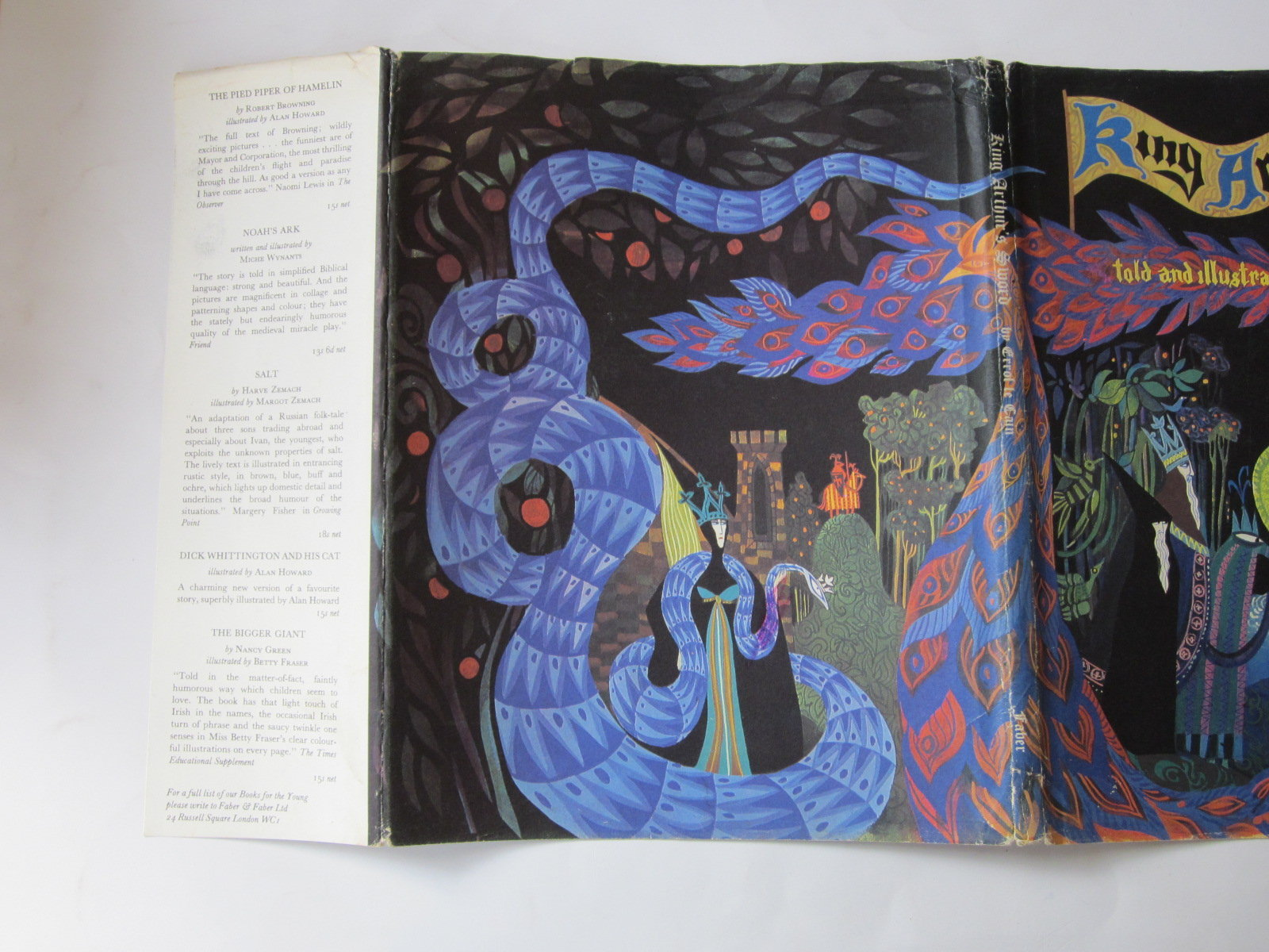 Photo of KING ARTHUR'S SWORD written by Le Cain, Errol illustrated by Le Cain, Errol published by Faber & Faber (STOCK CODE: 1307925)  for sale by Stella & Rose's Books