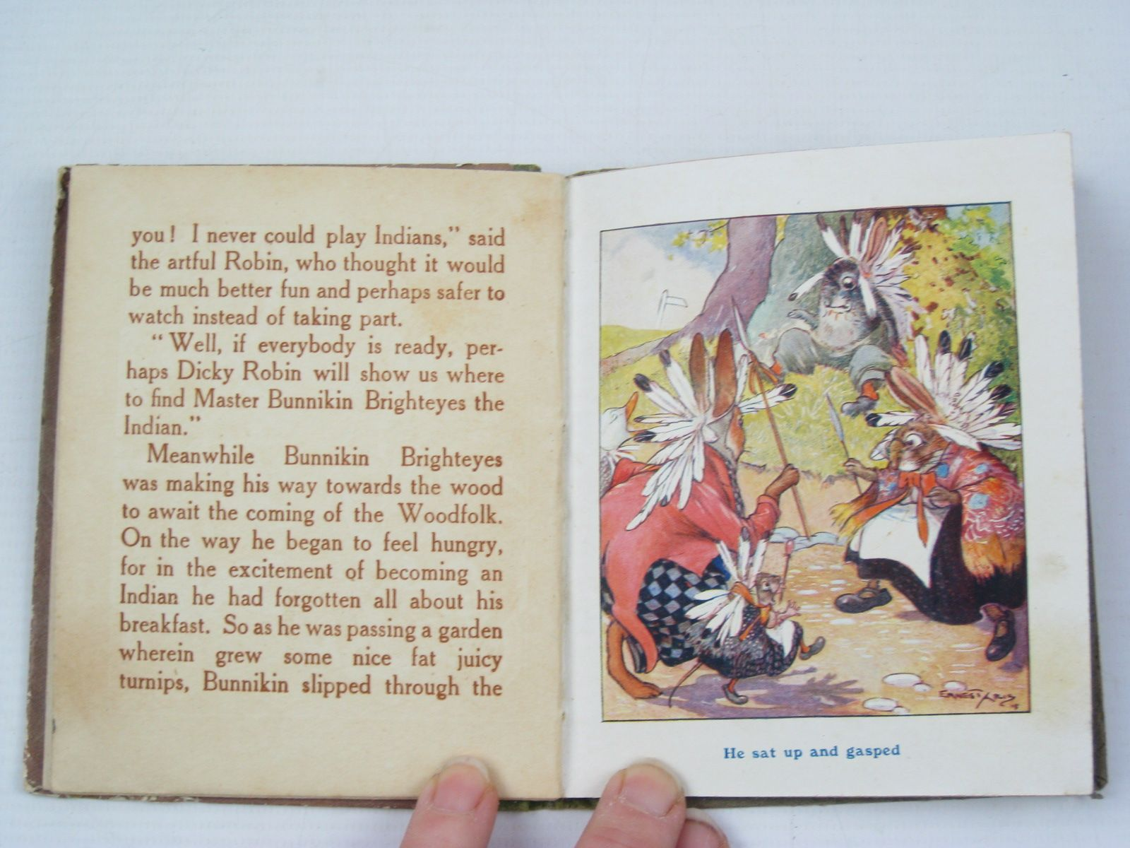 Photo of BUNNIKIN BRIGHTEYES THE INDIAN written by Aris, Ernest A. illustrated by Aris, Ernest A. published by Gale & Polden, Ltd. (STOCK CODE: 1312264)  for sale by Stella & Rose's Books