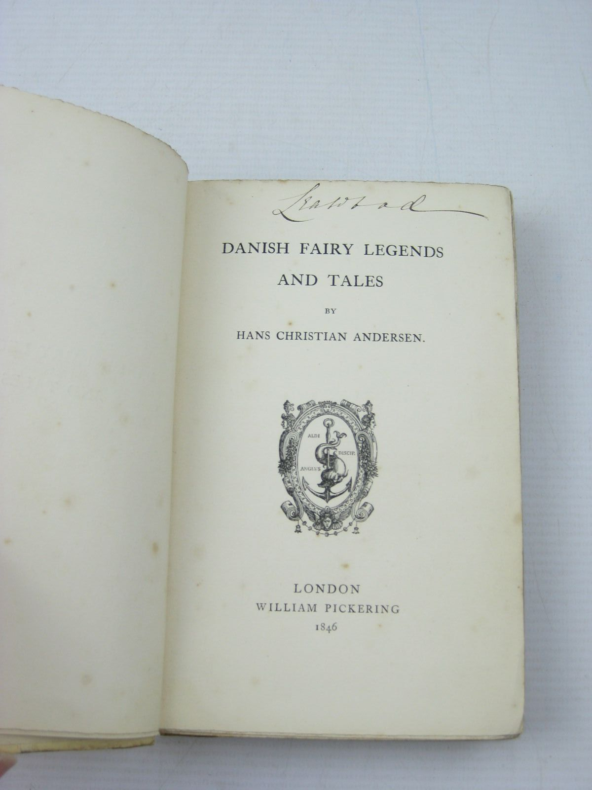 Photo of DANISH FAIRY LEGENDS AND TALES written by Andersen, Hans Christian published by William Pickering (STOCK CODE: 1312919)  for sale by Stella & Rose's Books