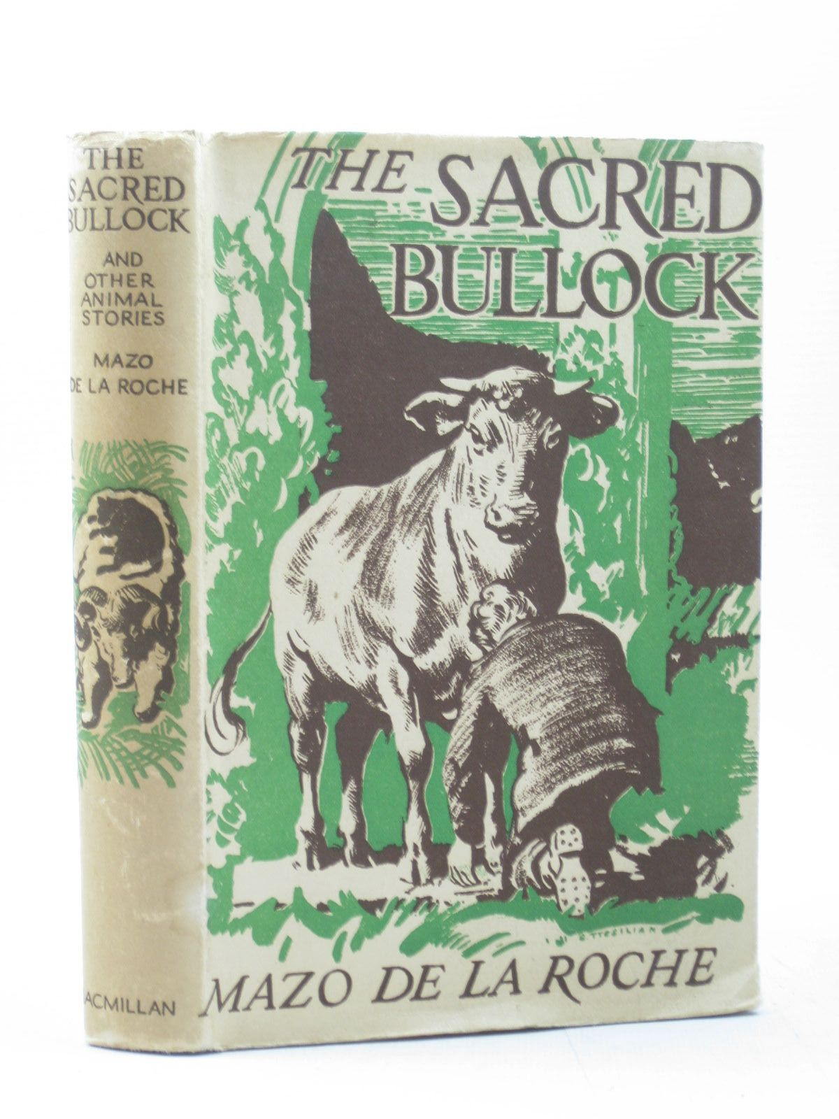 Photo of THE SACRED BULLOCK AND OTHER ANIMAL STORIES written by De La Roche, Mazo illustrated by Tresilian, Stuart published by The Macmillan Company Of Canada Limited (STOCK CODE: 1313014)  for sale by Stella & Rose's Books