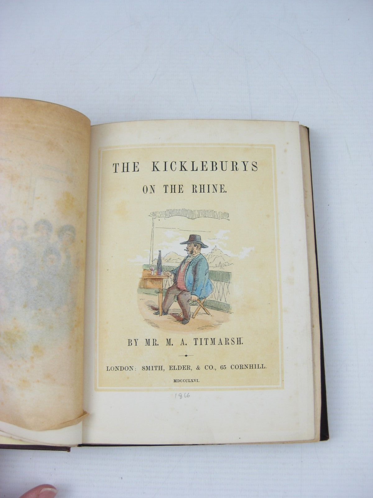 Photo of THE KICKLEBURYS ON THE RHINE written by Titmarsh, M.A. published by Smith, Elder & Co. (STOCK CODE: 1314124)  for sale by Stella & Rose's Books