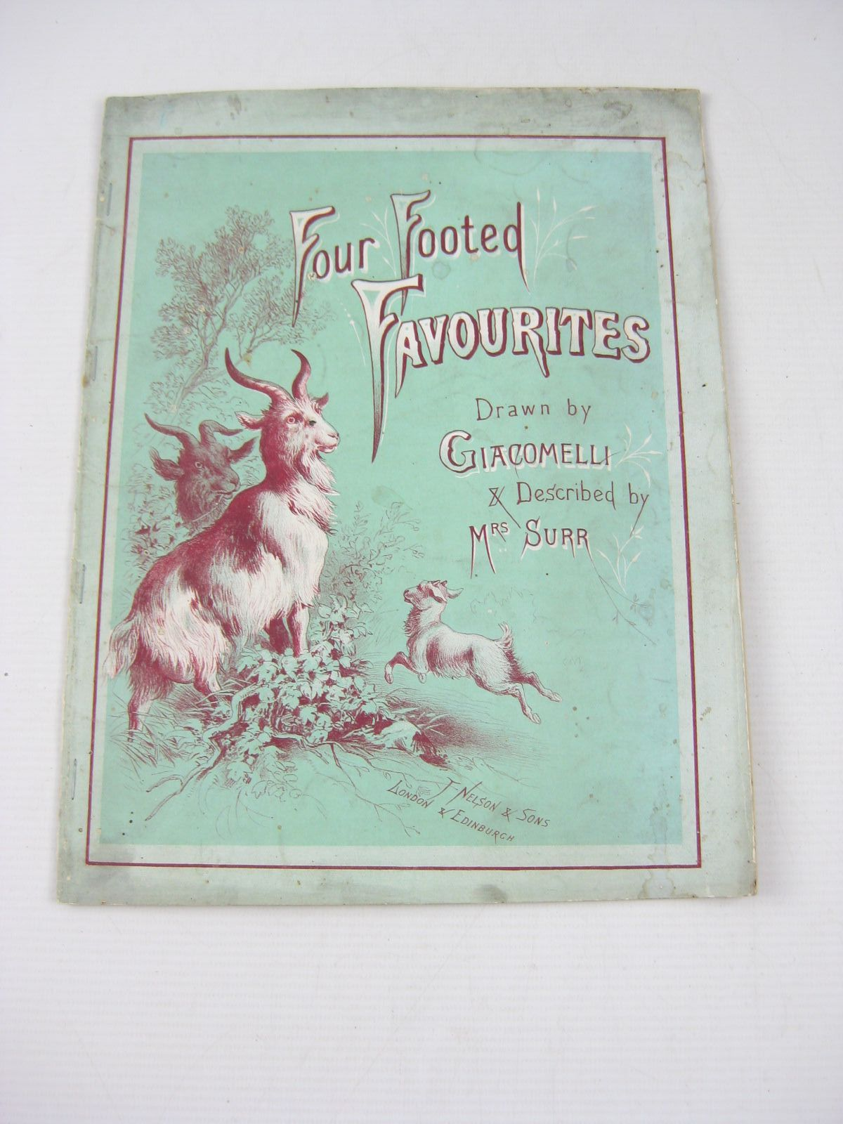 Photo of FOUR FOOTED FAVOURITES written by Surr, Mrs. illustrated by Giacomelli, published by T. Nelson & Sons (STOCK CODE: 1314229)  for sale by Stella & Rose's Books