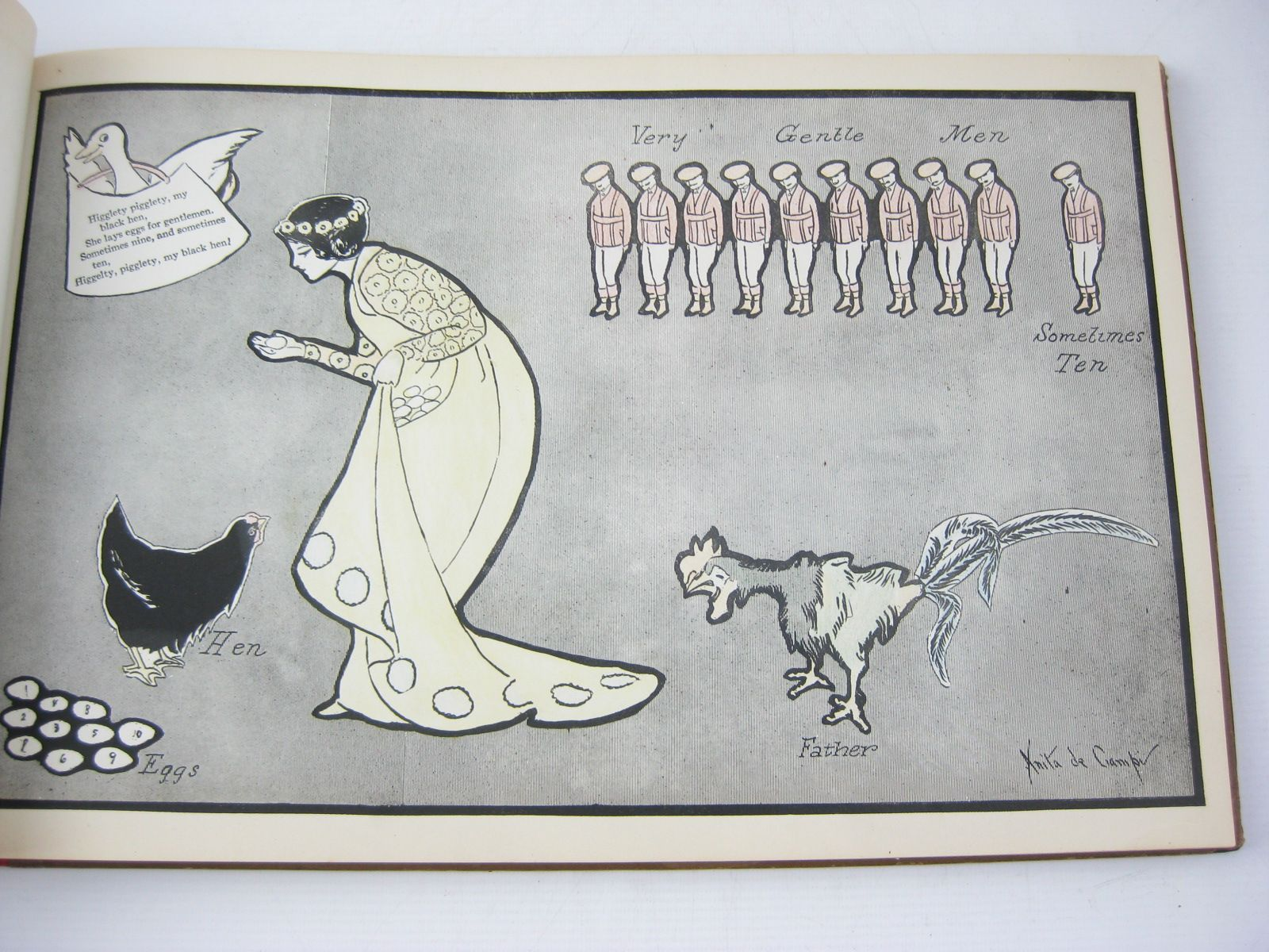 Photo of MOTHER GOOSE PARADE CUT-OUTS illustrated by De Campi, Anita published by The Reilly & Britton Co. (STOCK CODE: 1314244)  for sale by Stella & Rose's Books