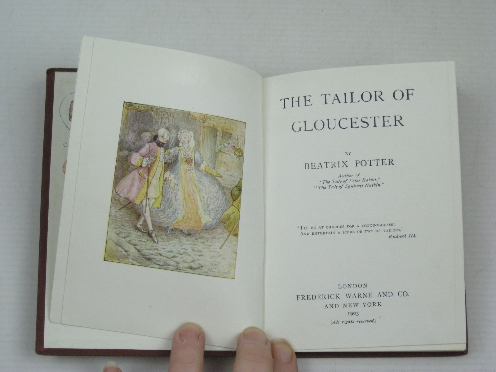Photo of THE TAILOR OF GLOUCESTER written by Potter, Beatrix illustrated by Potter, Beatrix published by Frederick Warne & Co. (STOCK CODE: 1314780)  for sale by Stella & Rose's Books