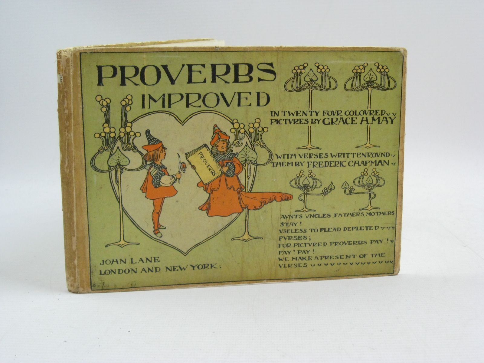 Photo of PROVERBS IMPROVED written by Chapman, Frederic illustrated by May, Grace H. published by John Lane (STOCK CODE: 1315108)  for sale by Stella & Rose's Books