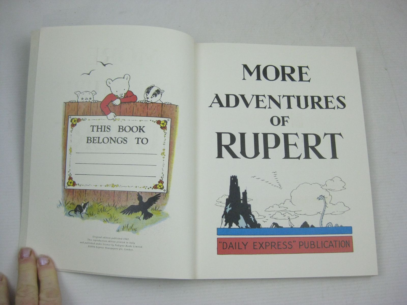 Photo of RUPERT ANNUAL 1942 (FACSIMILE) - MORE ADVENTURES OF RUPERT written by Bestall, Alfred illustrated by Bestall, Alfred published by Pedigree Books Limited (STOCK CODE: 1315759)  for sale by Stella & Rose's Books