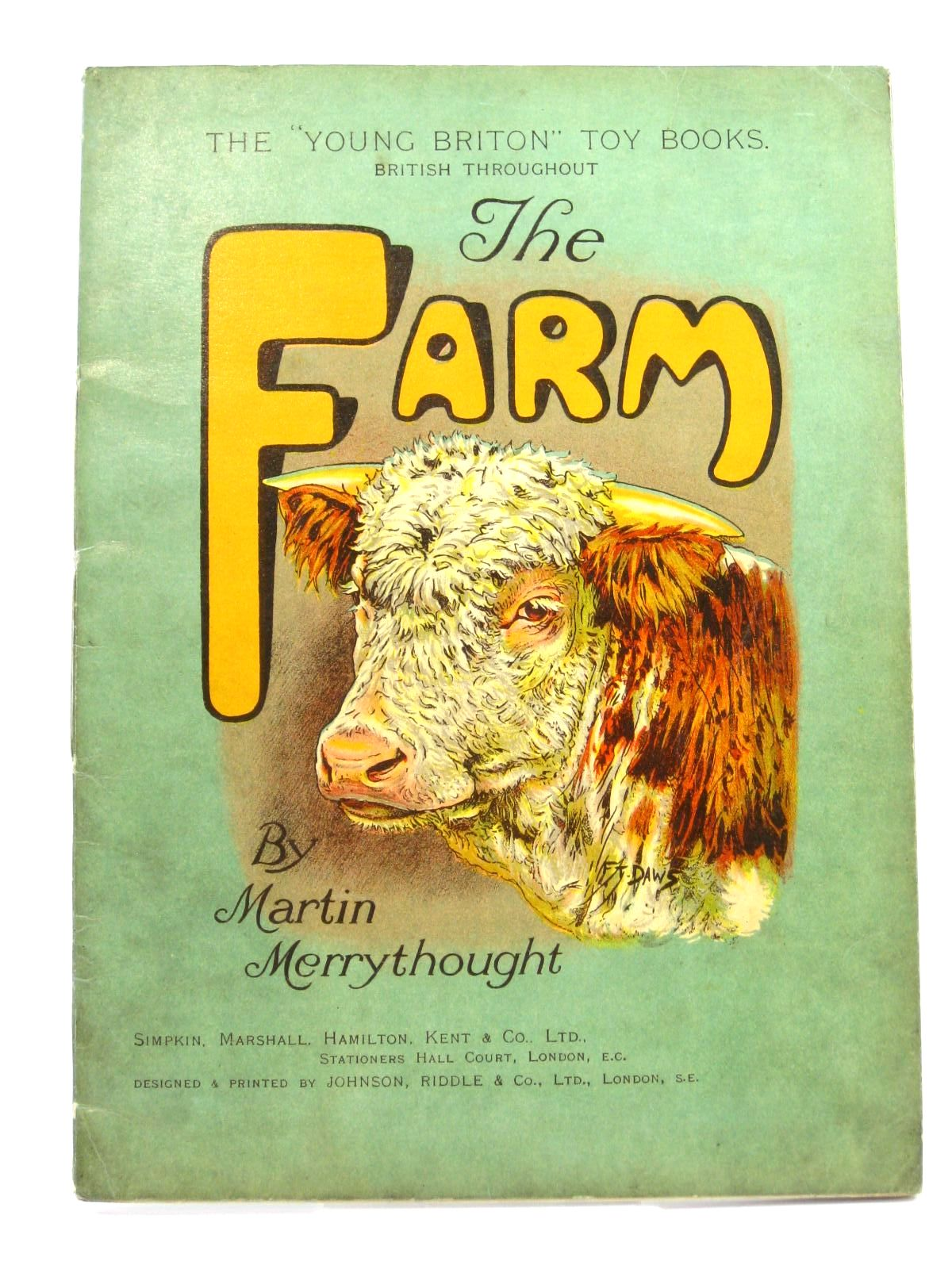 Photo of THE FARM written by Merrythought, Martin illustrated by Daws, F.<br />Lumley, Savile published by Simpkin, Marshall, Hamilton, Kent &amp; Co. Ltd. (STOCK CODE: 1316430)  for sale by Stella & Rose's Books