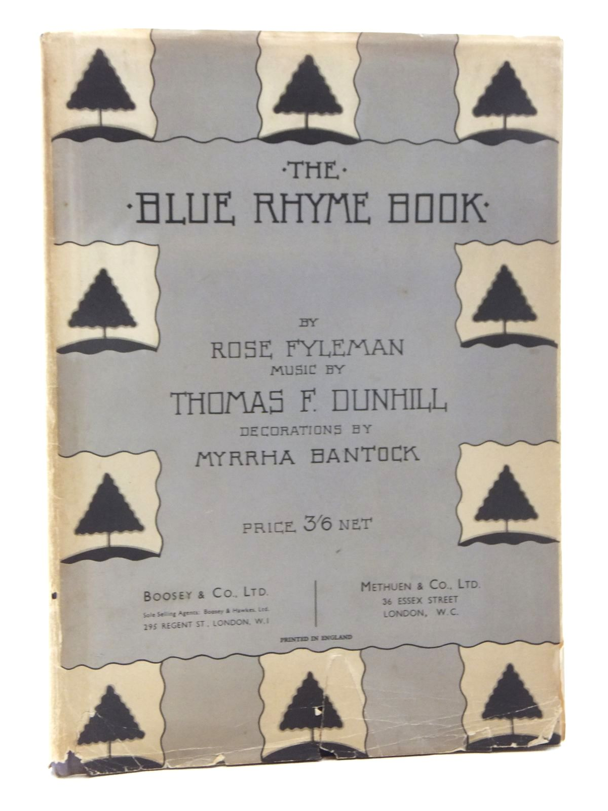 Photo of THE BLUE RHYME BOOK written by Fyleman, Rose illustrated by Bantock, Myrrha published by Boosey & Co. Ltd., Methuen & Co. Ltd. (STOCK CODE: 1317177)  for sale by Stella & Rose's Books