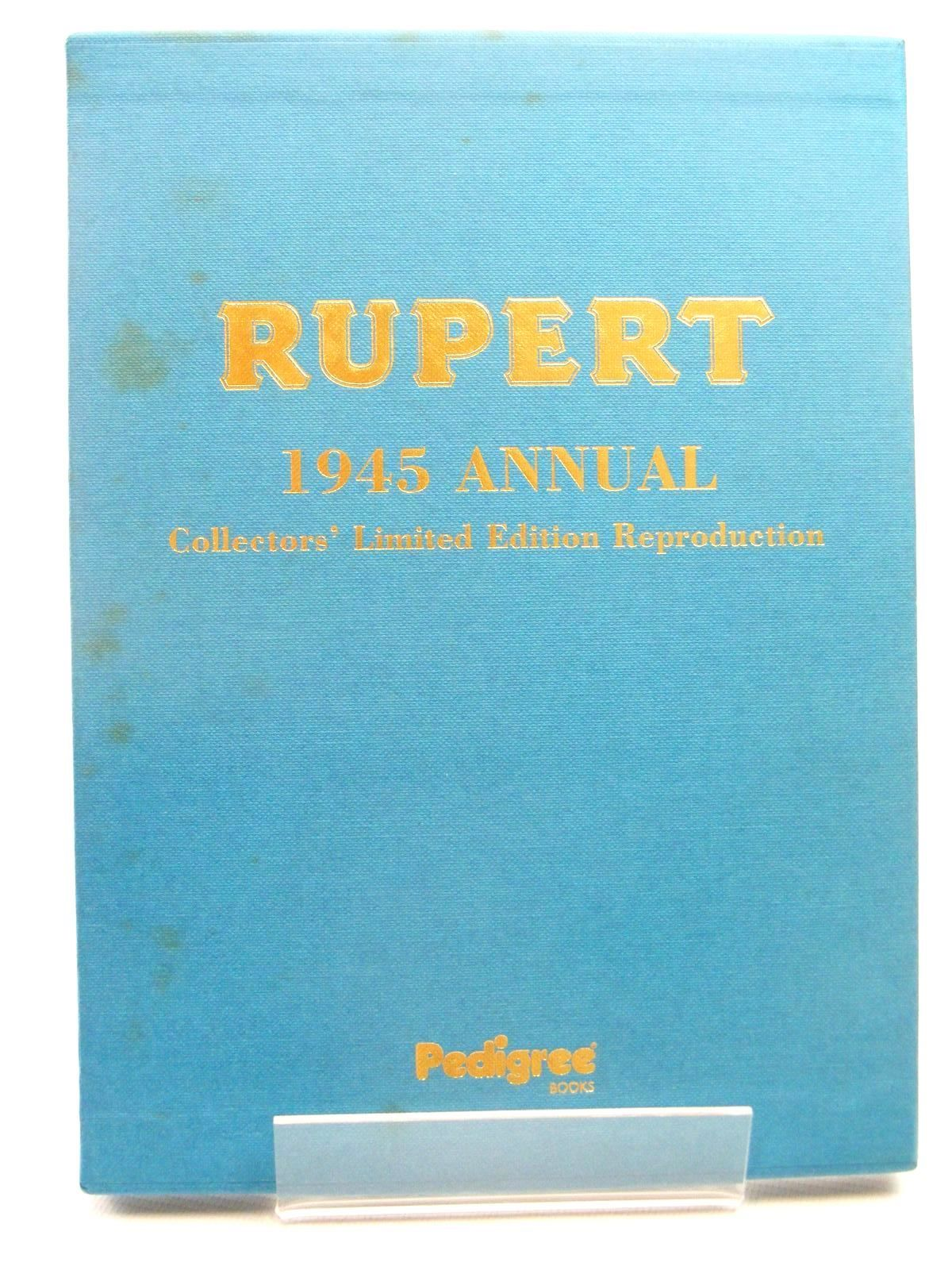 Photo of RUPERT ANNUAL 1945 (FACSIMILE) - A NEW RUPERT BOOK written by Bestall, Alfred illustrated by Bestall, Alfred published by Pedigree Books Limited (STOCK CODE: 1317284)  for sale by Stella & Rose's Books