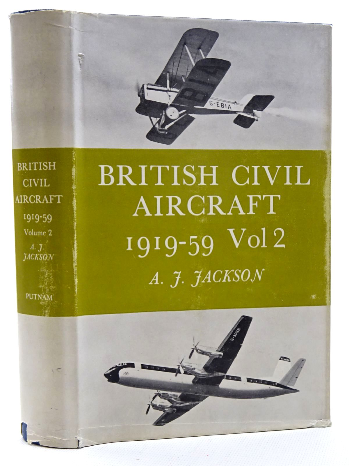 Photo of BRITISH CIVIL AIRCRAFT 1919-59 VOLUME TWO written by Jackson, A.J. published by Putnam (STOCK CODE: 1317369)  for sale by Stella & Rose's Books
