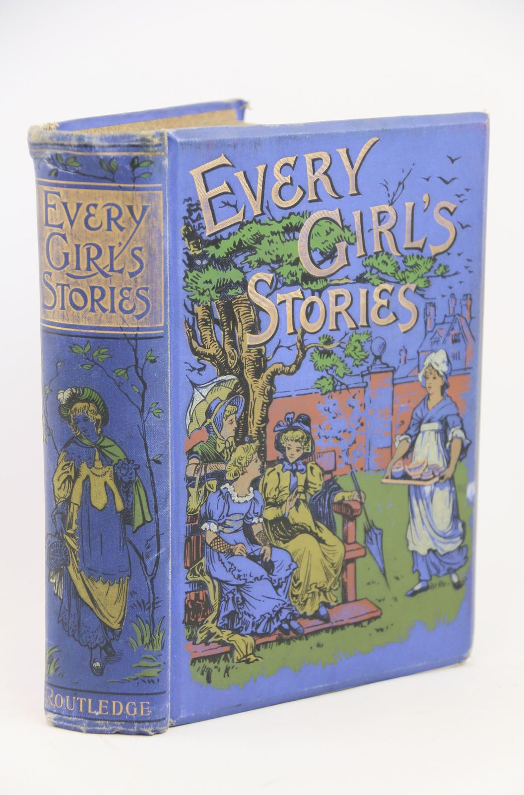 Photo of EVERY GIRL'S STORIES written by Aguilar, Grace Edgeworth, Maria Knatchbull-Hugessen, E.H. et al, illustrated by Greenaway, Kate et al., published by George Routledge & Sons Ltd. (STOCK CODE: 1317889)  for sale by Stella & Rose's Books
