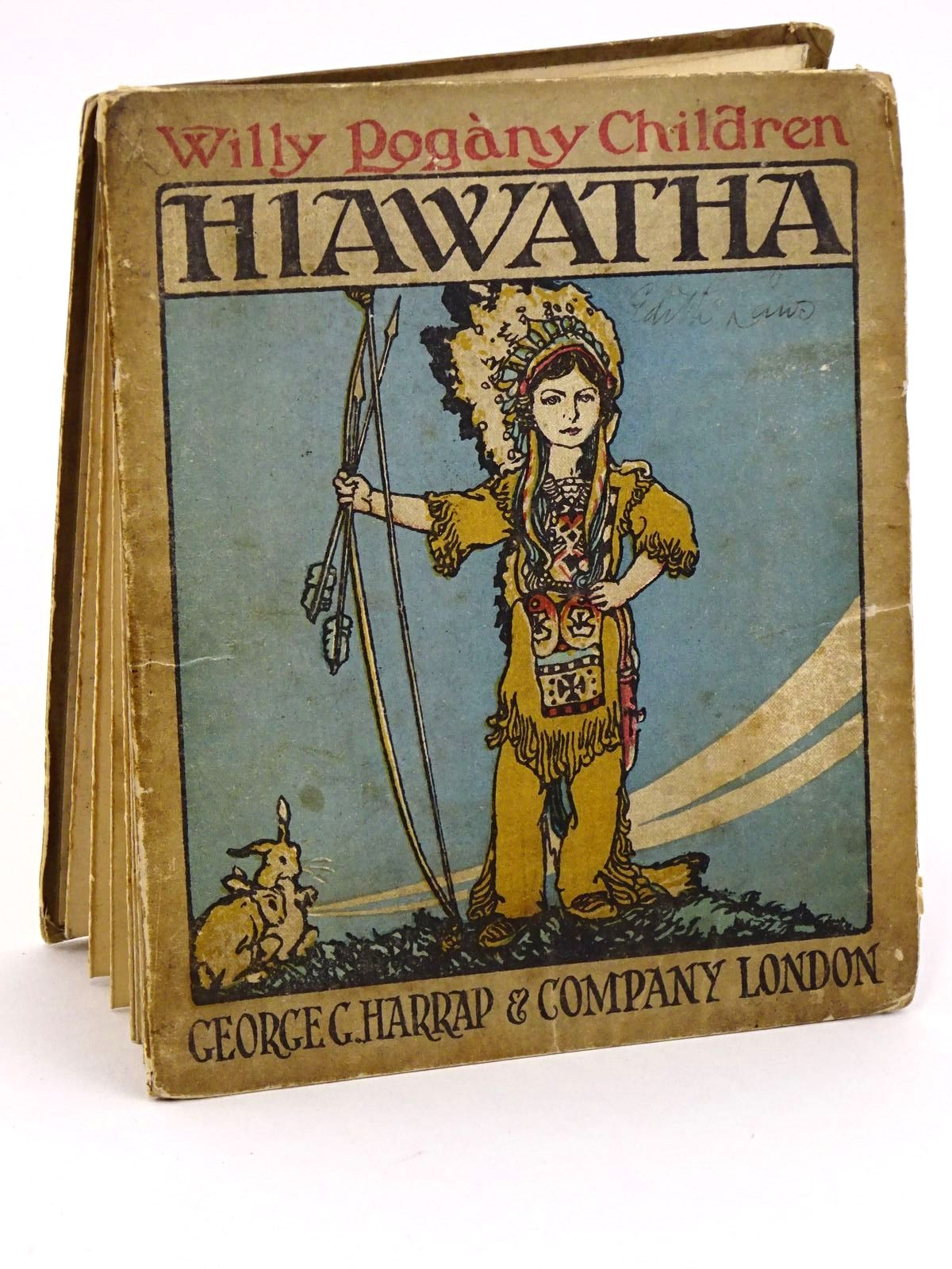 Photo of THE STORY OF HIAWATHA written by Elias, Edith L. illustrated by Pogany, Willy published by George G. Harrap & Co. (STOCK CODE: 1318077)  for sale by Stella & Rose's Books