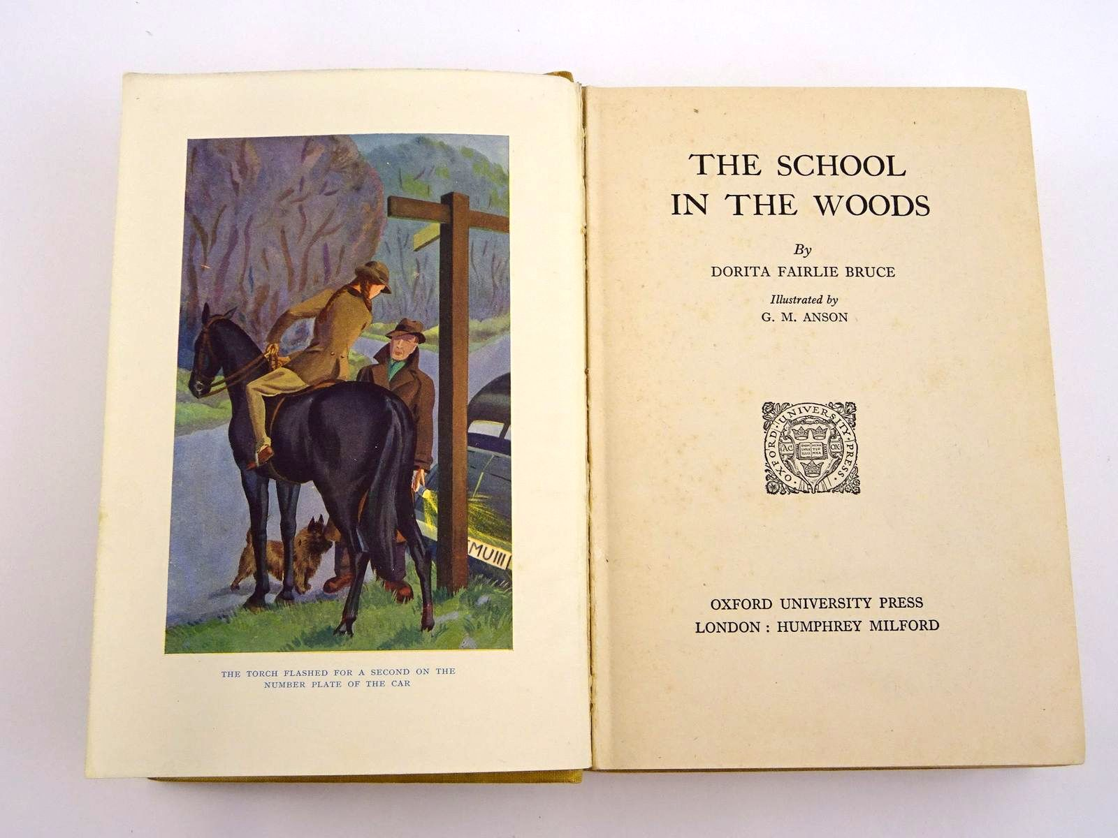 Photo of THE SCHOOL IN THE WOODS written by Bruce, Dorita Fairlie illustrated by Anson, G.M. published by Oxford University Press, Humphrey Milford (STOCK CODE: 1318081)  for sale by Stella & Rose's Books