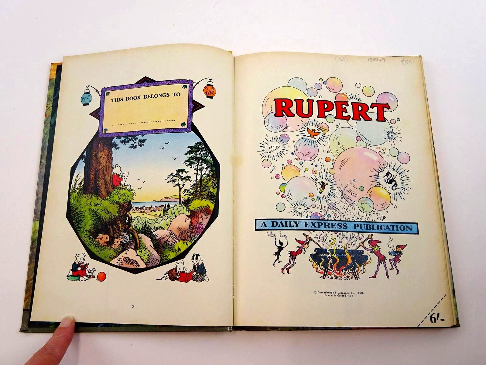 Photo of RUPERT ANNUAL 1968 written by Bestall, Alfred illustrated by Bestall, Alfred published by Daily Express (STOCK CODE: 1318149)  for sale by Stella & Rose's Books