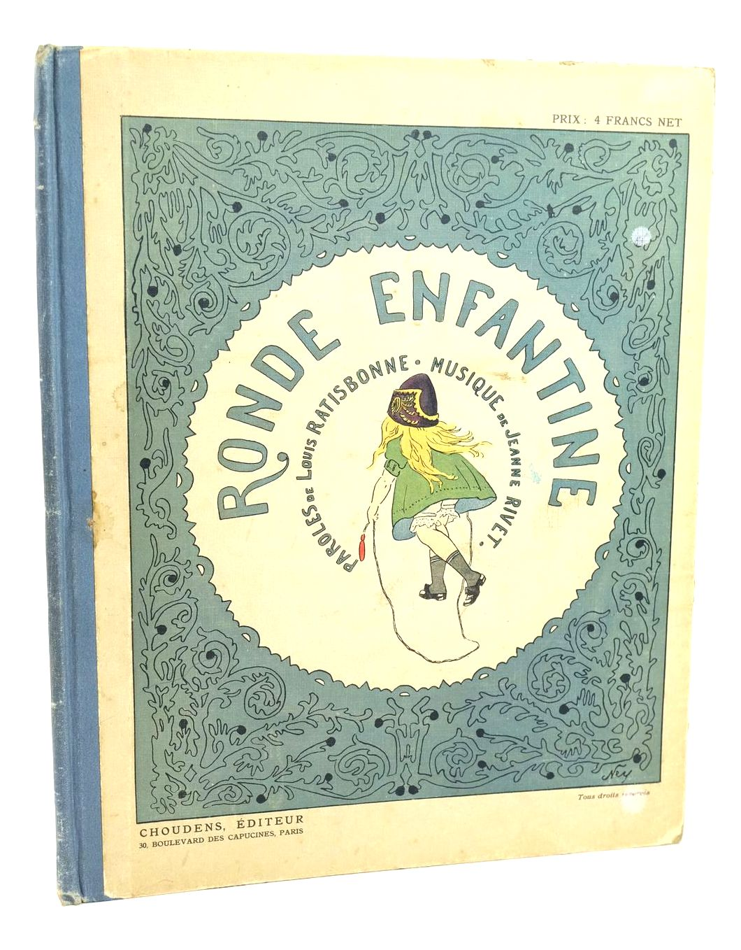 Photo of RONDE ENFANTINE written by Ratisbonne, Louis Rivet, Jeanne illustrated by Ney, H. published by Choudens (STOCK CODE: 1318576)  for sale by Stella & Rose's Books