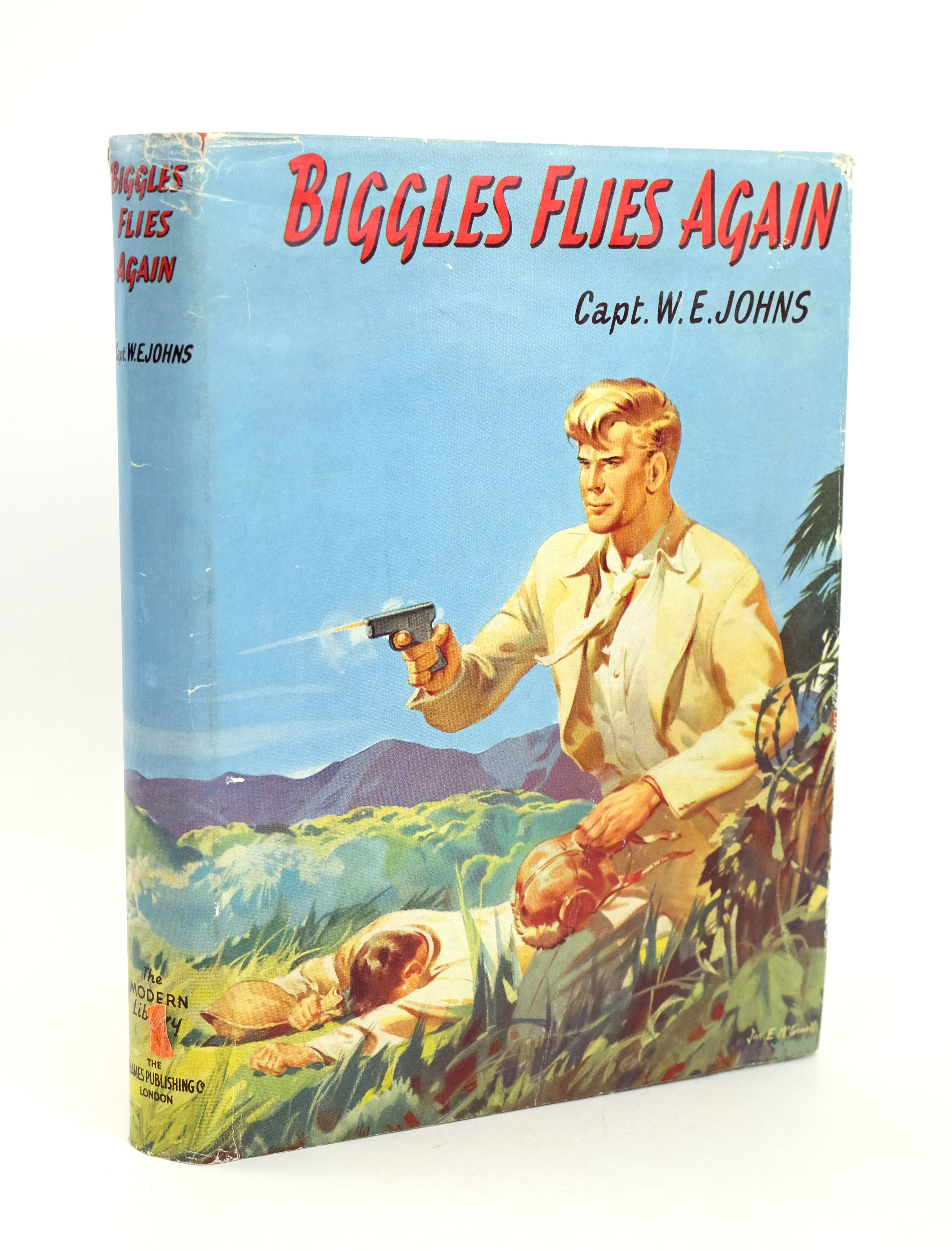 Photo of BIGGLES FLIES AGAIN written by Johns, W.E. illustrated by McConnell, J.E. published by The Thames Publishing Co. (STOCK CODE: 1318591)  for sale by Stella & Rose's Books