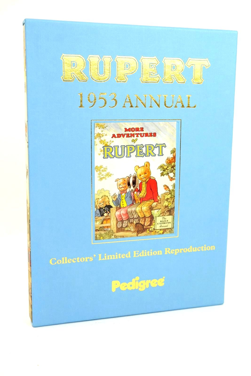 Photo of RUPERT ANNUAL 1953 (FACSIMILE) - MORE ADVENTURES OF RUPERT written by Bestall, Alfred illustrated by Bestall, Alfred published by Pedigree Books Limited (STOCK CODE: 1318643)  for sale by Stella & Rose's Books