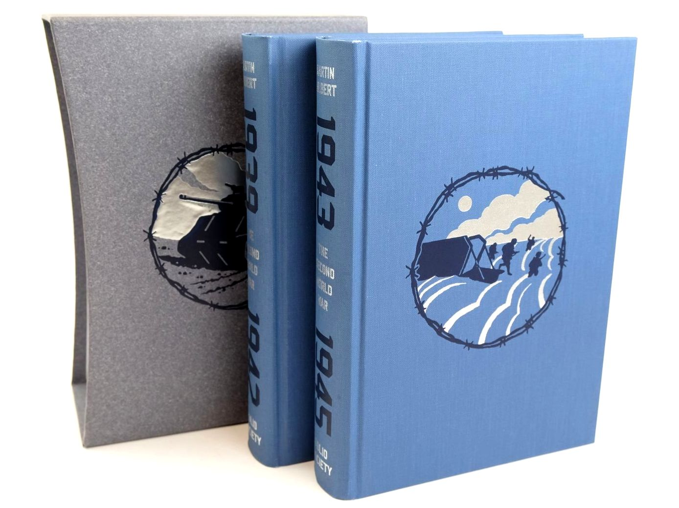 Photo of THE SECOND WORLD WAR (2 VOLUMES) written by Gilbert, Martin illustrated by McLaren, Joe published by Folio Society (STOCK CODE: 1318673)  for sale by Stella & Rose's Books