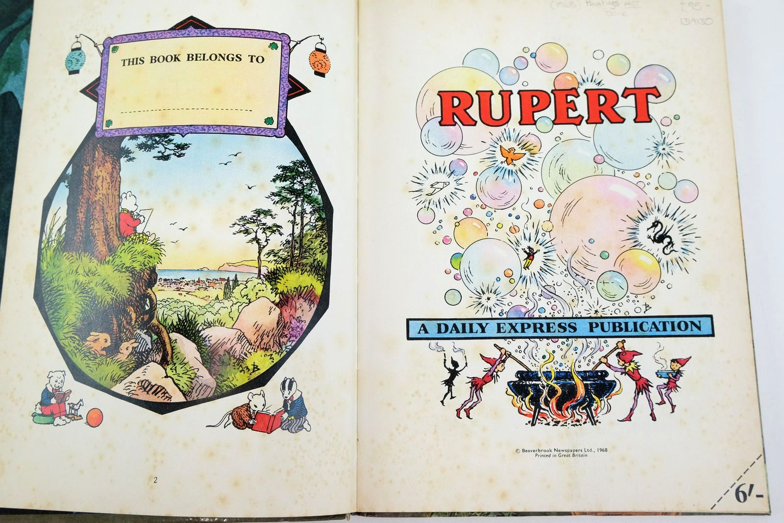 Photo of RUPERT ANNUAL 1968 written by Bestall, Alfred illustrated by Bestall, Alfred published by Daily Express (STOCK CODE: 1319130)  for sale by Stella & Rose's Books